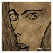 PixTopper-LV0013C-Expressions of fear 02, Canvas-Small (24 in x 24 in)