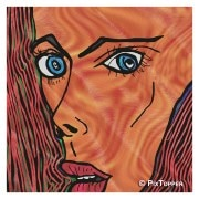 PixTopper-LV0014C-Expressions of fear 03, Canvas-Large (44 in x 44 in)