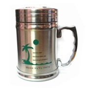 Stainless Steel Double Wall Tea Mug with Lid