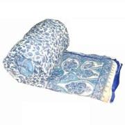 Cotton Jaipuri Razai (Quilt) White Base - Double Bed Size