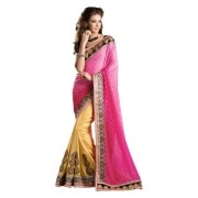 Adah Fashions -564-4002B-Pure Georgette Butti   Jute Lining FabricDesigner Saree