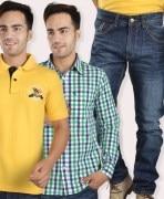 Shirt, T- Shirt & Jeans Combo