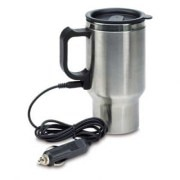 Qubeplex Q19 12V Double Wall Stainless Car Travelling Mug