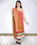 Coral Printed Cotton Unstitched Suit