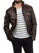 SkinOutfit Men's Leather Jacket - SO00161$P