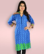 Blue Cotton Kurta D1501