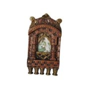 Rajasthan Art  Wooden Jharokha With Gem Stone Painting