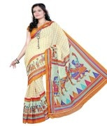 Vastrakala Designer Exclusive Printed Cotton Saree