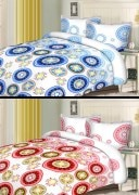 Double Bed Sheet Combo Of 2 With Pillow Cover