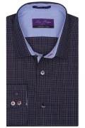 Louis Philippe Mens Full Sleeves Regular Fit Check Formal Shirt