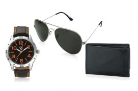 Rico Sordi fashion Leather watch,Sunglass & Wallet RSD41_WSGW