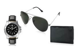 Rico Sordi fashion Leather watch,Sunglass & Wallet RSD43_WSGW