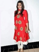 Clickingo Aliya Bhatt Red Bollywood Anarkali Dress