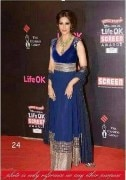 Clickingo Bipasa Basu Blue Bollywood Anarkali Dress