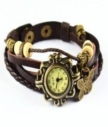 Vintage Butterfly Leather Bracelet for Women