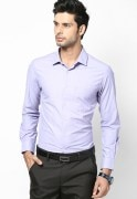 Peter England Purple Slim Fit Shirt