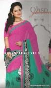 Sarin-1001-A-Swarna Pankh Shiffon Saree