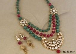Roshan Mala Kundan Necklace Set