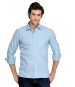 Blue Cotton Shirts For Men's