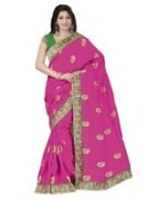 Pink Bhagalpuri Art Silk With Blouse Piece  STSA001-1004