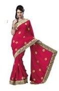 Red Bhagalpuri Art Silk With Blouse Piece  STSA001-1005