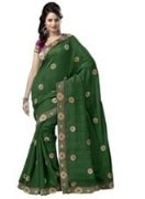 Green Bhagalpuri Art Silk With Blouse Piece  STSA001-1009