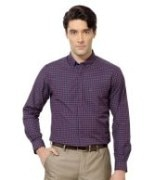 Peter England Purple Formal Shirt For Men's