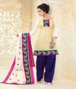 Trendy Unstitched Punjabi Suit With Dupatta