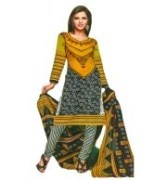 Printed Cotton Unstitched Punjabi Suit With Dupatta