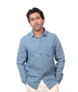 Ink Blue Denim Shirts For Men's