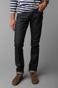 Pencil Cut Solid Black Jeans for Men