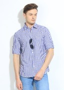 John Players Men's Checkered Casual Shirt