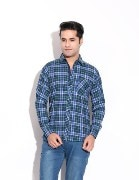 Pazel Men's Checkered Casual Shirt