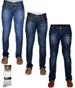 Sam & Jazz Denim Combo Of 3 Jeans With Free 1 Pair Of Assorted Socks For Men
