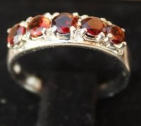 Stylish & Elegant Sterling Silver Garnet Ring-BRG1337