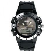 Skmei Imported Trendy Casual Analog & Digital Pu Quartz Watch - NWA05S006C0