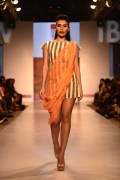 Khadi dress with a drape