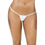Aliza White Women's G-string Panty