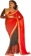 MULTI COLOUR GEORGETTE SAREE WITH FANCY PALLU