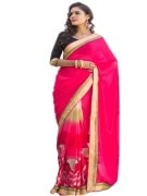 PINK COLOUR GEORGETTE SAREE WITH FANCY PALLU
