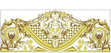Back panel designed for mdf/wood carving on CNC.