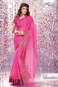Aura Khushbu Cotton Saree and Unstiched Blouse