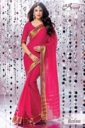 Aura Raisa Cotton Saree and Unstiched Blouse