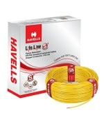 6.0 SQ.MM HAVELLS PVC INSULATED SINGLE CORE CABLE 90 MTRS.