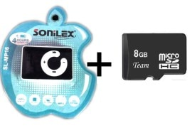 Sonilex MP3 Player With 8 GB Memory
