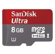 SanDisk 8GB Ultra microSDHC UHS l Card with Adapter Speed up to 48MB/s