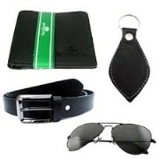 Combo Product of AC Leather Belt-Wallet & key Ring