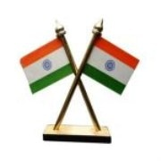 Home Office Car Dashboard Indian Flag Stand