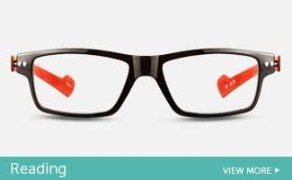 black and red plastic frame unisex