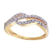 Saloni Jewels 18 K Bis Hallmark Diamond Studded Regular Ring LR-386